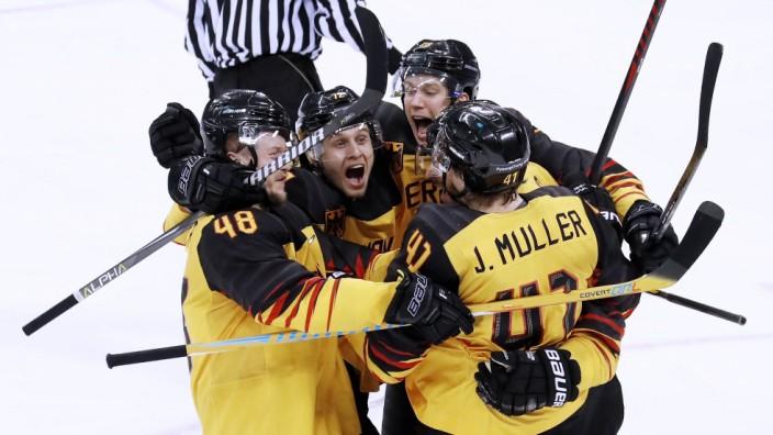 Die Deutsche Eishockey-Nationalmannschaft im Olympia-Finale 2018
