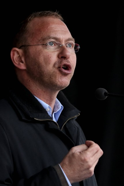Frank Werneke stellvertretender Bundesvorsitzender ver di Rede Kundgebung zum 1 Mai der Gewerks
