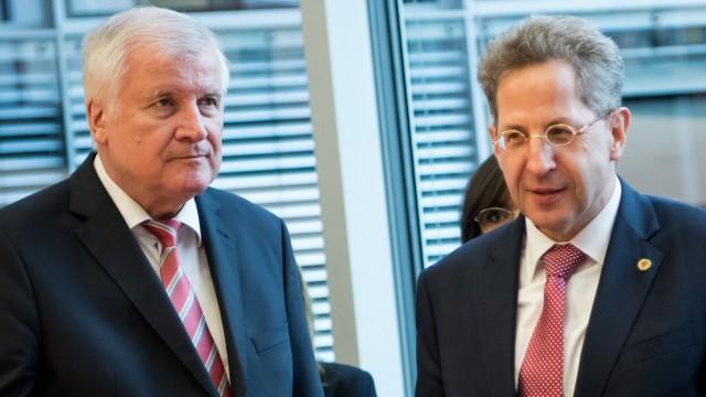 Horst Seehofer und Hans-Georg Maaßen 2018 in Berlin