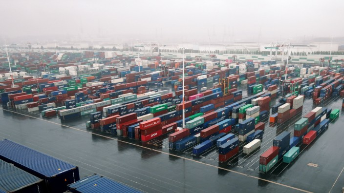 Container-Hafen in Le Havre