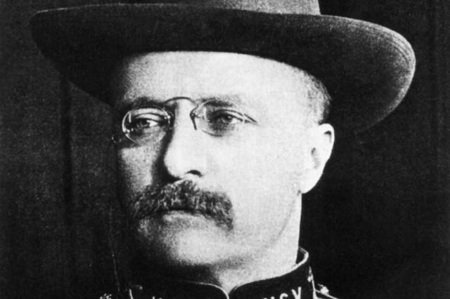"""Mit """"Kneifer"""" ! - Friedensnobelpreisträger Theodore Roosevelt"""
