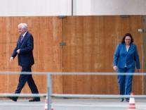 Horst Seehofer, Andrea Nahles nach Krisenrunde im Kanzleramt
