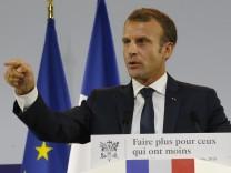 Emmanuel Macron stellt Plan zur Armutsbekämpfung vor