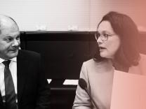 Olaf Scholz und Andrea Nahles bei der SPD-Fraktionssitzung