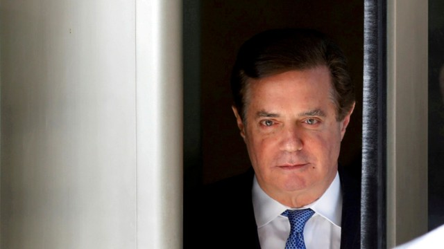 FILE PHOTO: Former Trump campaign manager Paul Manafort departs from U.S. District Court