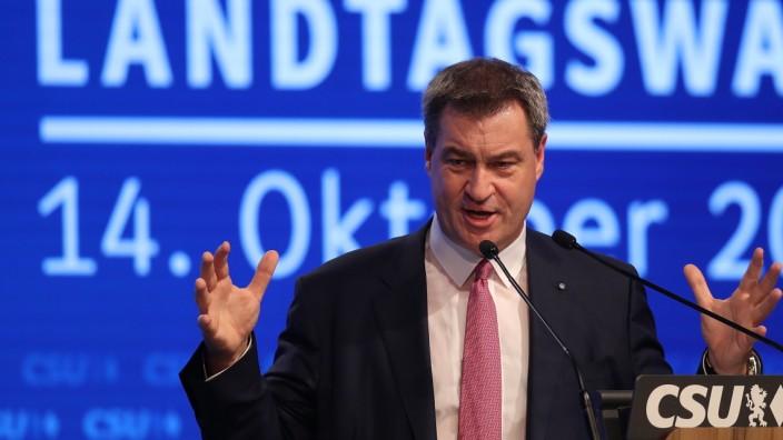 CSU-Ministerpräsident Söder beim Parteitag in München