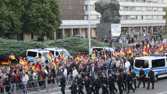 Demonstration der rechtspopulistischen Bewegung Pro Chemnitz