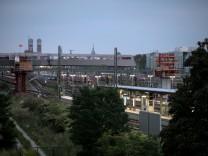 Bauarbeiten Arnulfbrücke fotografiert von der Donnersberger Brücke.