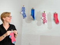 "Socken ""Too hot to hide"" Designerin München"