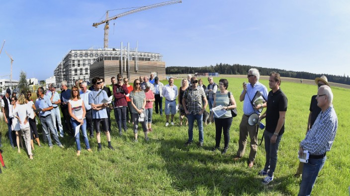 Gauting, Unterbrunner Forst, Orrtsbegehung