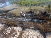 Moorbrand auf einem Bundeswehr-Gelände im Emsland 2018