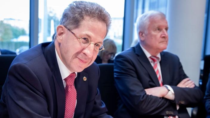 Hans-Georg Maaßen und Horst Seehofer 2018 in Berlin