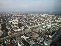 Panorama vom Münchener Stadtteil Moosach, 2018