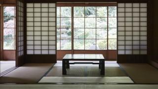 Traditional Japanese inn interior PUBLICATIONxINxGERxSUIxAUTxHUNxONLY 80091465