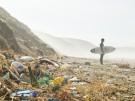 Plastic Tideline and Surfer - Perranporth (c) Surfers Against Sewage - G...
