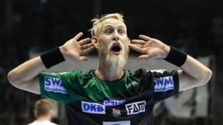 Matthias Musche SC Magdeburg Handball Bundesliga Saison 2018 2019 Punktspiel SC Magdeburg vs T