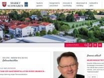 Screenshot Webseite Markt Schwaben neu