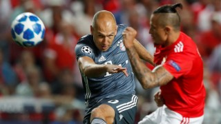Arjen Robben beim Champions-League-Spiel FC bayern gegen Benfica Lissabon