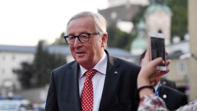Jean-Claude Juncker beim EU-Gipfel 2018 in Salzburg