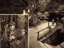 Ehrenfriedersdorf Erzgebirge Partie an der Stülpnerhöhle Karl Stülpner AUFNAHMEDATUM GESCHÄTZT