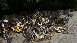 Obike-Leihfahrräder in München, 2018