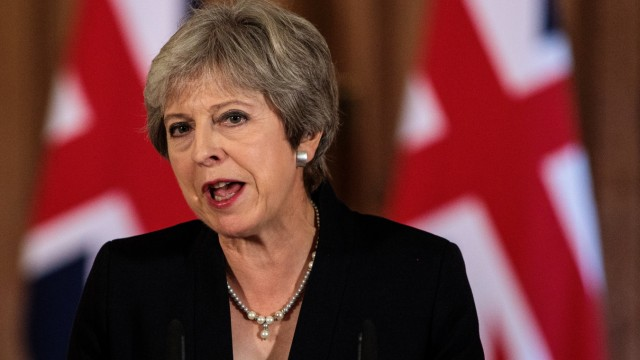 ***BESTPIX*** Theresa May Makes EU Statement