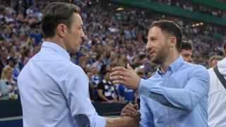 Fußball DFB Pokal Halbfinale FC Schalke 04 Eintracht Frankfurt am 18 04 2018 in der Veltins Arena; Kovac Tedesco
