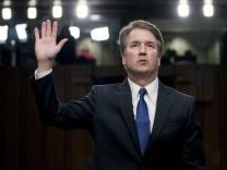 Brett Kavanaugh 2018 bei einer Anhörung vor dem Senat