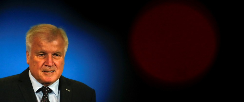 German Interior Minister Horst Seehofer addresses the media in Berlin