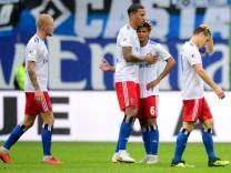Spieler des Hamburger SV gegen Jahn Regensburg