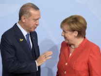 Recep Tayyip Erdogan und Angela Merkel auf dem G-20-Gipfel 2017 in Hamburg
