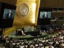 Vereinte Nationen: Trump spricht, die Welt bangt