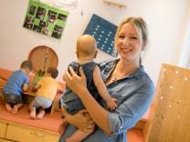 Katharina Heine im Kindergarten Topolinos an der Mitterfeldstraße 8 in Pasing