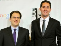 FILE PHOTO: Instagram founders Krieger and Systrom attend the 16th annual Webby Awards in New York