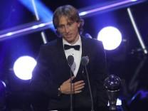 Luka Modric bei der Weltfußballer-Wahl 2018
