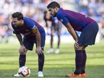Lionel Messi und Luis Suarez vom FC Barcelona