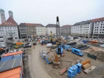 Bauarbeiten für zweite S-Bahn Stammstrecke in München, 2018