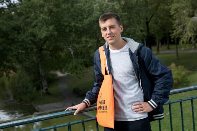 Linus Springer, Kandidat der Freien Wähler in Hadern.