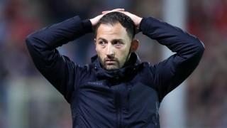 Schalke-Trainer Domenico Tedesco beim Bundesliga-Spiel gegen den SC Freiburg