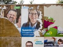 Vandalismus Wahlplakate