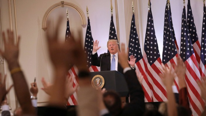 President Trump Holds News Conference In New York