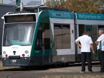 Selbstfahrende Straßenbahn