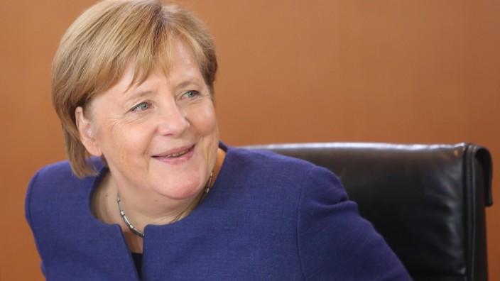 Angela Merkel bei einer Kabinettssitzung 2018