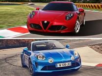 Autotest Alfa Romeo 4c gegen Alpine A110