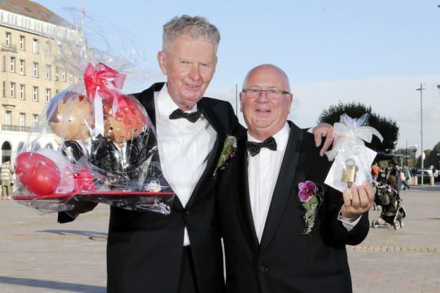 Schwule Heirat Werner und Wolfgang Duysen