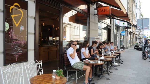 Die Konditorei Kaffee Schneller in der Maxvorstadt in München