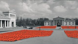 Walter Kuhn. Aktion ' Never again ' auf dem Königsplatz
