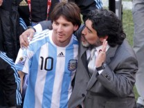 Maradona and Messi