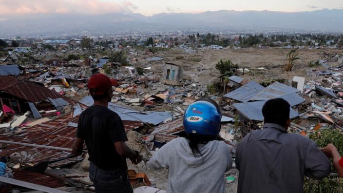 Indonesien: Große Zerstörung auf der Insel Sulawesi nach einem Tsunami