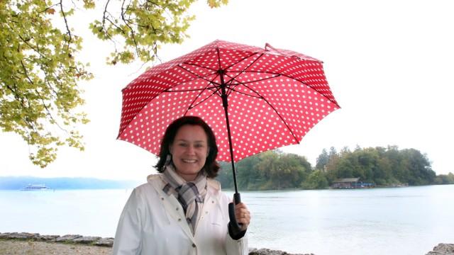 Ute Eiling-Hütig an ihrem Lieblingsplatz; Landtagswahl 2018 in Bayern
